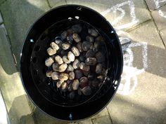 beer can chicken 17-2-2013  de smoker is er klaar voor