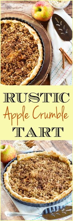 Rustic Apple Crumble Tart | Home & Plate | www.homeandplate.com | This apple tart features crisp and crunchy Honeycrisp apples.