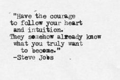 A Steve Jobs quote
