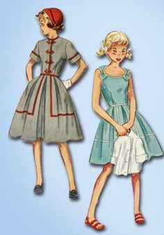 1950s Original Sweet Little Girl's Sun Dress and Bolero Pattern Sz 7 | eBay