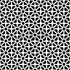 Geometric seamless pattern in black and white Stock Vector