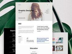 Online Resume - Titan Muse Templates by Marcin Czaja Adobe Muse, Online Resume, Lorem Ipsum, Graphic Design, Templates, Education, Geek, Stencils, Online Cv
