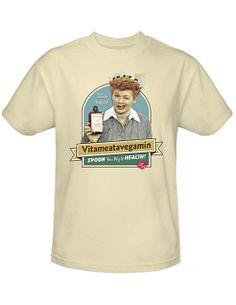 NEW NWT I Love Lucy Spoon Your Way To Health Vitameatavegamin T-Shirt 2X