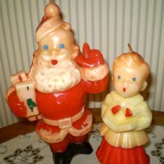 Two Vintage Gurley Christmas Candles