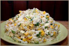 sałatka z tofu i ryżu