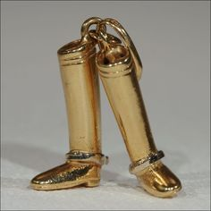 18k Gold Boots Charm