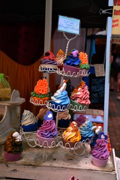 Soap Cupcakes. Gorgeous piping!