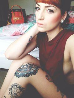 Her knee tattoo is amazing