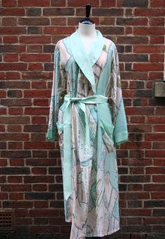 """One Hundred Stars Venice map"" Dressing gown by Maude and Tommy, York, England."