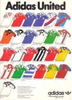 Adidas replica football shirt advert from late 1970s