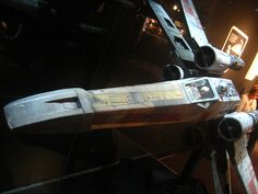 X-Wing fighter from the Star Wars traveling exhibit