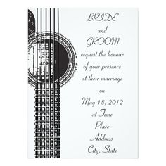 Wedding Theme Ideas Acoustic Guitar Wedding Invitation - Acoustic guitar invite perfect for music lovers Guitar Wedding, Wedding Music, Music Wedding Invitations, Custom Invitations, Invitation Ideas, Wedding Themes, Wedding Cards, Wedding Ideas, Wedding Bells