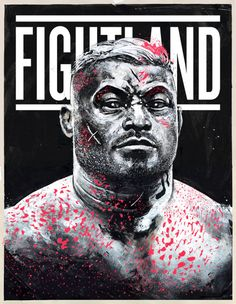 """giangalang: """"""""Bloody Hunt"""" 18″x24″ Acrylic, Digital. 2015 Check it out on Vice Fightland! """""""