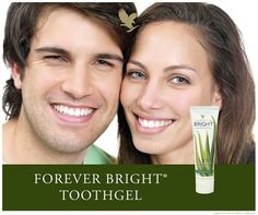 Forever Bright Toothgel   gentle, non-fluoride formula, that contains aloe vera and bee propolis. It nourishes, strengthens and protects teeth and gums whilst fighting plaque and whitening without bleaching agents. A great minty taste in a non-abrasive formula, that children and adults love.