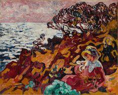 Louis Valtat - Woman on the Seashore Woman on the Seashore (Jeune Femme sur les rochers à Anthéor),1902