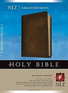 NLT Slimline Reference Bible, Rustic Brown: Amazon.de: Tyndale: Fremdsprachige Bücher The Words, Got Books, Books To Read, Colour Dictionary, Kindle, Anonymous Book, Living Bible, Reference Bible, Bible Translations