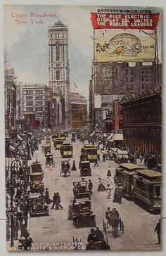 TIMES SQUARE 1911 postcard Times Tower VINTAGE NEW YORK CITY