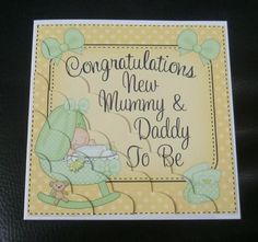 Card Gallery - New Mummy & Daddy to Be Scallop Corner side stacker Topper