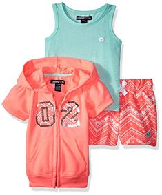 Limited Too Baby Girls' 3 Piece Jog Set, Neon Orange, Baby Boy Outfits, Jogging, Baby Girls, 3 Piece, Orange, Boys, Clothes, Amazon, School