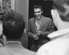 The Phillip Harrington Collection - Elvis Presley speaking with Fans 1956