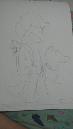Sloppy but,,, Cole and his doggos #Ninjagodudes @Omega Wolf