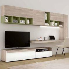 Parete attrezzata soggiorno porta tv in legno Athos 30
