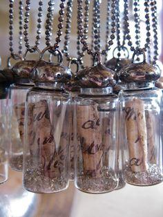 Message in the bottle pendant - Dije mensaje en la botella