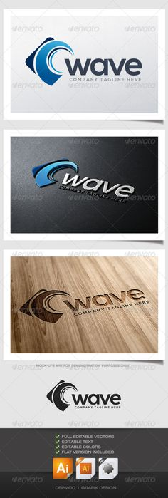Wave Logo #GraphicRiver Logo of stylized wave in a form. Can be used for many kind of project. Full vectors, this logo can be easily resize and colors can be changed to fit your colors project. Flat version for print also included. The font used is in a download file in the package. Font : .fontsquirrel /fonts/nexa Files provided : .ai (CS6 and CS), .eps, .jpg, .png (transparent) Created: 16May13 GraphicsFilesIncluded: TransparentPNG #JPGImage #VectorEPS #AIIllustrator Layered: No…
