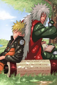 Jiraiya and Naruto NARUTO. ANIME