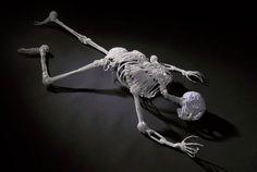 Plastic Utensil Skeleton Art