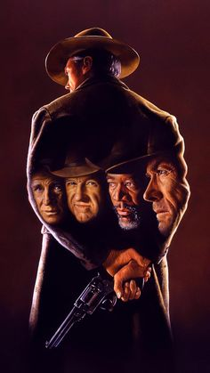 Unforgiven directed by Clint Eastwood with a screenplay written by David Webb Peoples. Films Western, Western Art, Client Eastwood, Clint Eastwood Poster, Thriller, Eastwood Movies, Westerns, Egyptian Movies, Cinema Posters