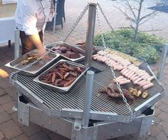 秋千烧烤烧烤 Outdoor Catering, Charcoal Bbq Grill, Barbecue, Grilling, Cooking, House Ideas, Patio, Amazing, Creative