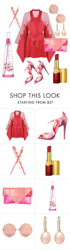 """""""Japanese mist"""" by memilia-4 ❤ liked on Polyvore featuring Agent Provocateur, Brian Atwood, France Luxe, Estée Lauder, Issey Miyake and Linda Farrow"""