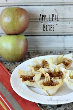 15 Minute Apple Pie Bites- ideal for a finger food party snack