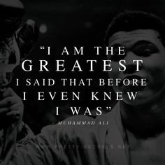 Inspiring quotes by Muhammad Ali. Positive Phrases, Positive Messages, Positive Quotes, Muhammad Ali Quotes, Connor Mcgregor, Jordan Quotes, Believe In Yourself Quotes, Most Famous Quotes, Float Like A Butterfly