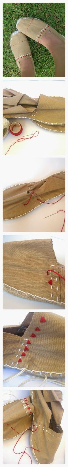 DIY Espadrilles tutorial
