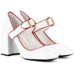 Prada Patent Leather Pumps In Liaeco+rosso Patent Shoes, Patent Leather Pumps, Shoes Heels, Leather Shoes, Fashion Shoes, Fashion Accessories, Cute Heels, Prada Shoes, Dream Shoes