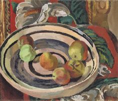 Vanessa Bell (British, 1879-1961), Still Life with Apples in a Bowl, c.1919. Oil on canvas, 12 x 14 in.