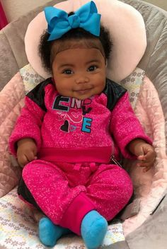 Enyce 💕, Xoxo Such a Happy Baby 💙 Cute Mixed Babies, Cute Black Babies, Beautiful Black Babies, Cute Little Baby, Pretty Baby, Cute Baby Girl, Beautiful Children, Cute Babies, Newborn Black Babies