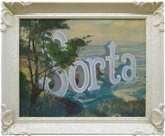 Wayne White adds typography to traditional landscape paintings