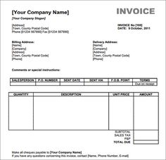 sales invoice template word | free invoice template downloads, Invoice examples