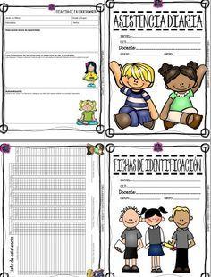 Excelente formato de calendario, registro de cumpleaños, diario de la educadora…