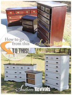 Full Room Furniture Revival | How to Get the Look - SouthernRevivals.com #paintedfurniture #tutorial #diyproject