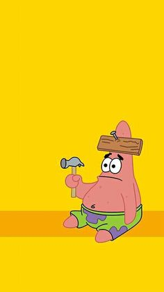 "HIT THE NAIL ON THE HEAD, PATRICK. ""I did it again SpongeBob.""  Patrick Wallpaper. (SpongeBob Squarepants) Locked Wallpaper, Lock Screen Wallpaper, Future Wallpaper, Mood Wallpaper, Star Wallpaper, Wallpaper Quotes, Cartoon Wallpaper, Disney Wallpaper, Wallpaper Spongebob"
