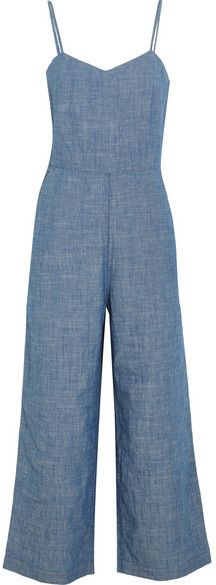 J.Crew - Roadrunner Cotton-chambray Jumpsuit - Blue