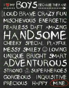 I LOVE MY BOYS print 10 x 8 by munkydory on Etsy, I love this! Tear in my eye love this:) Niklas, I Love My Son, Raising Boys, To Infinity And Beyond, Do It Yourself Home, My Children, Quotes Children, Decir No, Favorite Quotes