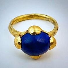 Talk about being old!! Here is a gorgeous example, c.8th-10th century AD Byzantine lapis lazuli ring, by Romanov Russia antique jewelry collection...stone is recent, setting is old!! Dreamy... #antiquejewelry #finejewelry #ringsofinstagram #lovegoldlive #ring #jewelry #gold #antiquejewellery #lovegold #inspiration #romanovrussia #jewellery #lapislazuli #highcarat #history #byzantine #medieval #old #ancient