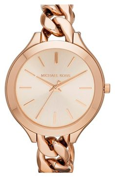 Michael Kors 'Slim Runway' Chain Bracelet Watch, 42mm | Nordstrom