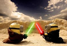 Vamers - Artistry - Fandom - Minion Wars Feel the Force - Star Wars and Despicable Me Mash-Up - Minion Jedi versus Sith by Jeff Quillope Cute Minions, Minions Despicable Me, My Minion, Funny Minion, Minion Humor, Minions Images, Minions Quotes, Minion Mayhem, Star Wars