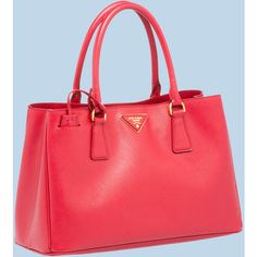 PRADA Saffiano Leather Tote (26.134.125 IDR) ❤ liked on Polyvore featuring bags…